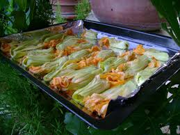 ricette con fiori di zucchina al forno ricetta fiori di zucca ripieni di riso al forno ricette di