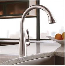 touch faucets for kitchen kitchen moen single handle kitchen faucet white kitchen sink
