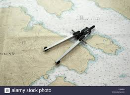 Southeast Alaska Map Divider Caliper Also Known As A Compass On A Nautical Chart Of