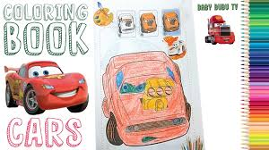 disney cars coloring book coloring pages for kids youtube