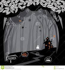 halloween haunted woods halloween woods stock vector image 60574338