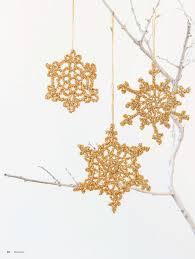 gold snowflake crochet ornament crochet kingdom