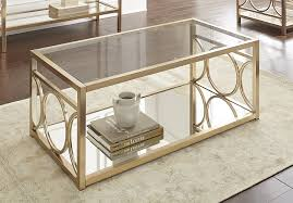 Display Case Coffee Table by Amazon Com Steve Silver Olympia Glass Top Coffee Table In Gold