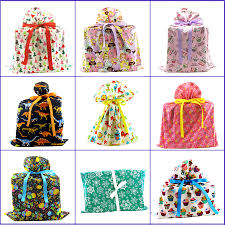 fabric bags for gift wrapping large or odd shaped presents they
