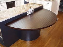 half round dining table remarkable kitchen hand hewn walnut half circle table top on island