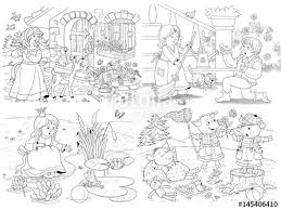 small fairy tale illustrations snow white dwarfs