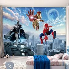 Captain America Bedroom by Aliexpress Com Buy Custom 3d Photo Wallpaper Batman Iron Man