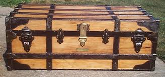 571 restored low profile top antique trunk for sale and available