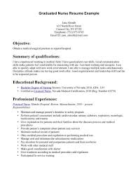 Sample Resume For Registered Nurse With No Experience by Sample Resume For Fresh Graduate Without Work Experience Free