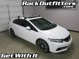 honda civic 13 honda civic thule rapid traverse silver aeroblade roof rack 13