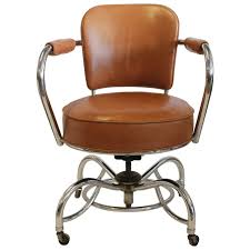 Pc Chair Design Ideas Stylish Art Deco Leather And Chrome Desk Chair At 1stdibs