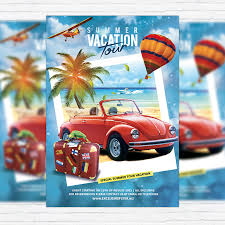 summer vacation tour u2013 premium flyer template facebook cover