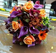 wedding flowers queanbeyan monday morning orange purple wedding ideas