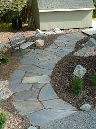 Dry Laid Bluestone Patio by Slate Loose Wonderful Walkways Pinterest Slate Walkways And