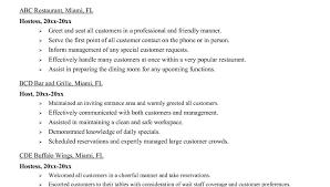 Hostess Job Duties Resume by Hostess Resume Skills Hostess Resume Zocdbs Jesse Kendall