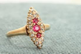 gold rings stones images Early 12 c rose gold red stone and old mine cut diamond ring rings jpg