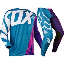 fox motocross apparel fox racing 2017 mx new 360 creo teal purple jersey pants motocross