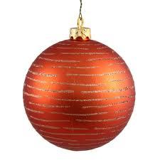 4 75 inch christmas ball with glitter ornament orange n111218