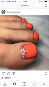 best 25 orange pedicure ideas on pinterest orange toe nails