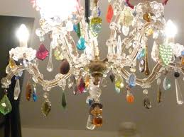 Vintage Glass Chandelier 12 Collection Of Coloured Glass Chandelier