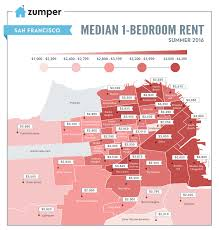 Map Of Chinatown San Francisco by Mapping San Francisco Rent Prices This Summer June 2016 The