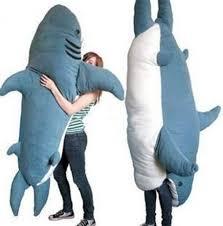 Shark Bean Bag Animal Shark Beanbag Plush Soft Sharks Sleeping