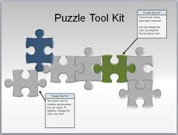 4 piece jigsaw template powerpoint free puzzle pieces powerpoint