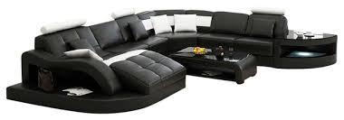 Sectional Sofa Black Modern Sectional Sofas With Divani Casa Emily Modern