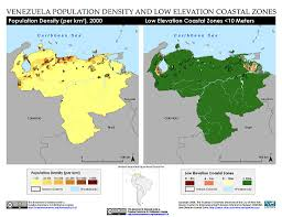Venezuela Map Maps Low Elevation Coastal Zone Lecz Sedac