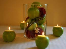 simple centerpieces unique and simple centerpieces apple candle holders budget