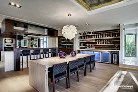 kitchen luxurious modern kitchen bar dining table design ideas