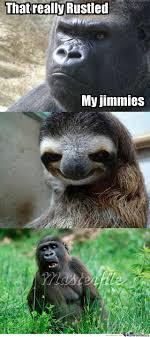 Gorilla Meme - sloth vs gorilla by emufossum13 meme center