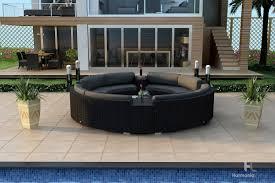 Curved Patio Furniture Set - harmonia living urbana eclipse 7 piece sectional set