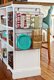 cabinet ends ideas storage baskets for your cabinet ends homebnc