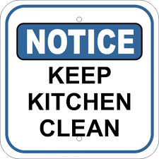 keep kitchen clean notice sign notice keep kitchen clean custom signs