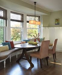 Dining Room With Banquette Seating by Banquette Bench Kitchen Midcentury With Corner Window Green Dining