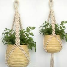hanging planter basket vintage pot holder macrame plant hanger hanging planter basket jute