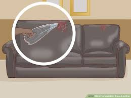 3 ways to maintain faux leather wikihow