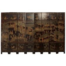 chinese room divider fine 18th century chinese painted eight panel screen for sale at
