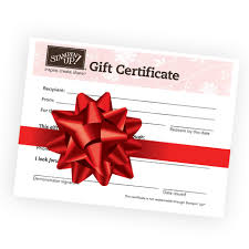gift certificates stin up gift certificates gift ideas