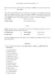 basic spanish a grammar u0026 workbook