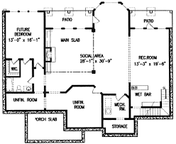 Floor 54 by Southern Style House Plan 3 Beds 3 00 Baths 4172 Sq Ft Plan 54 105