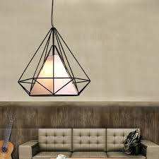 Diy Drum Pendant Light by Diy New Wire Cage Pendant Light Diamond Ceiling Chandelier Edison