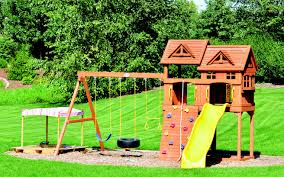 backyard discovery prestige wood swing set images on captivating