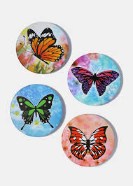 colorful butterfly pocket mirror shop miss a