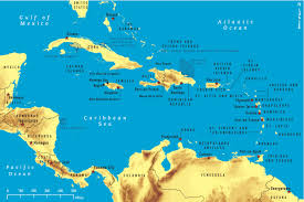 carribbean map of the caribbean 2011