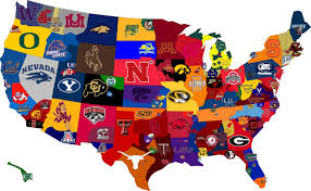 map usa nba college football map nuts and bolts sports