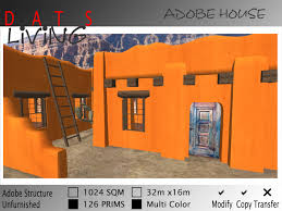 Style Of Home Adobe Second Life Marketplace Adobe House Southwestern Home Small