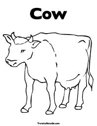 cow coloring pages lezardufeu com
