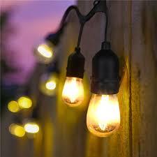 33ft 10m 10 e27 s14 led bulbs waterproof string light ul listd